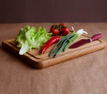 Traditional oak chopping boards