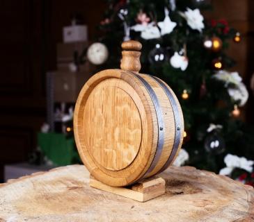 Oak Barrel Flask