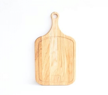 Oak large serving board with handle