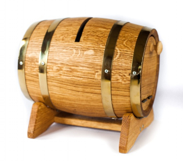 Wooden wedding barrel post box