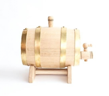 Whisky barrels with brass hoops 1 litre -10 litres
