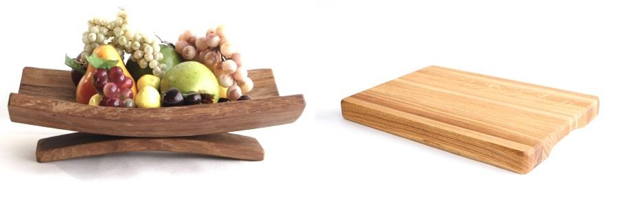 Think Oak chopping and  wooden  fruit  bowl